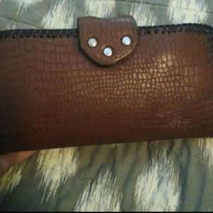 Vintage leather wallet from 1970 This was handmade